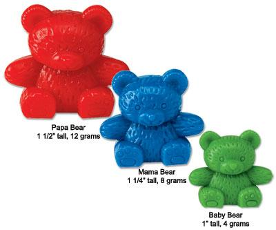 Four Color Baby Bear Counters Set Of 100 Exodus Books