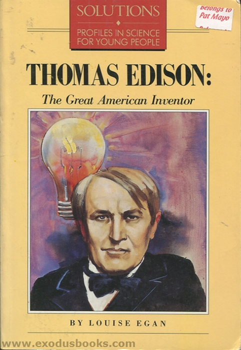 the life and achievements of thomas edison Thomas edison  early life : edison's ancestors and early years, 1730-1862   sources: thomas a edison, his life and achievements by ernest j berggren.