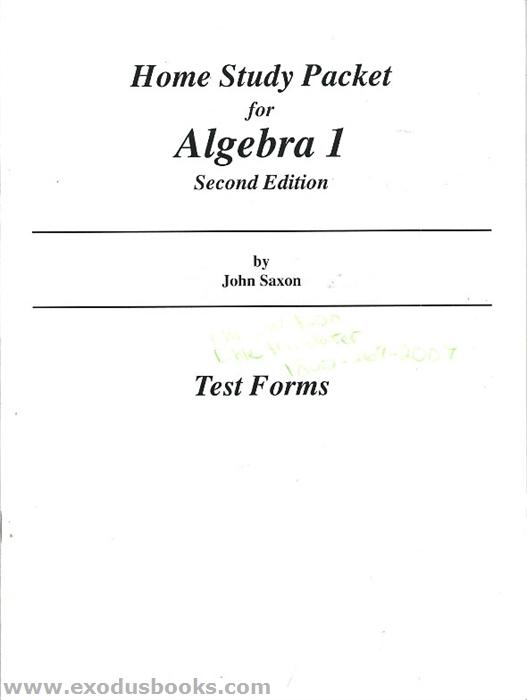 saxon algebra 1 book pdf