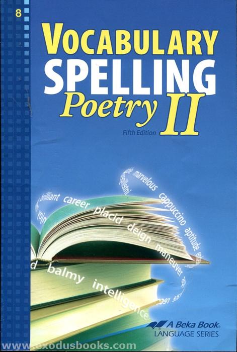 Vocabulary Spelling Poetry Ii Workbook Exodus Books