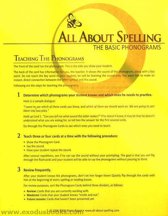 Spell to write and read phonogram cards