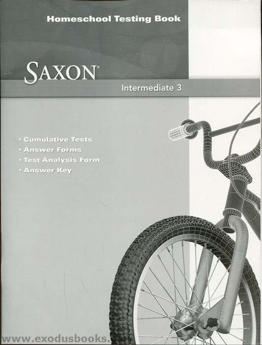 Saxon Math Intermediate 3 - Homeschool Testing Book ...