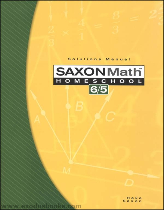 Saxon Math 65 - Solutions Manual - Exodus Books