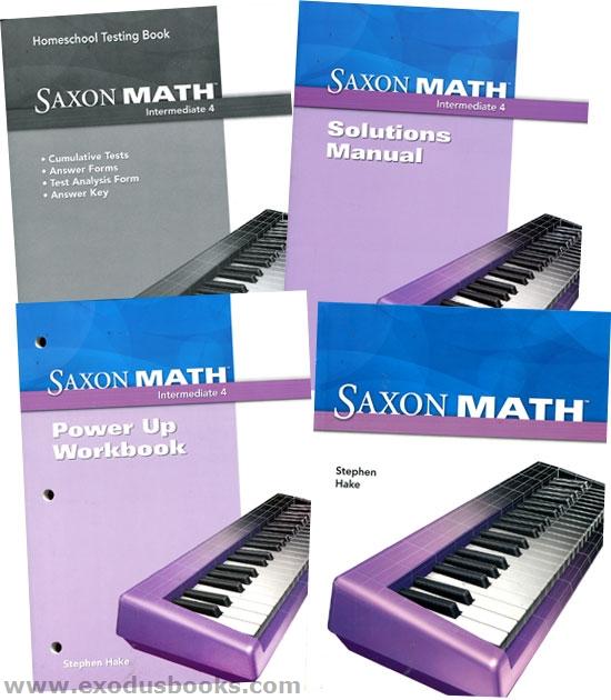 Saxon Math Intermediate 4 - Homeschool Kit