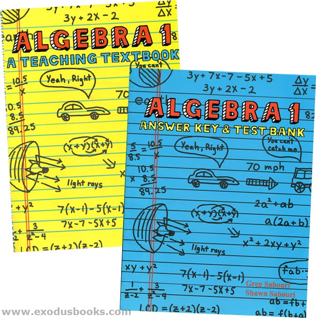 Algebra 1 2.0: A Teaching Textbook by Shawn Sabouri and Greg Sabouri, Complete