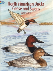 North American Ducks, Geese and Swans - Coloring Book