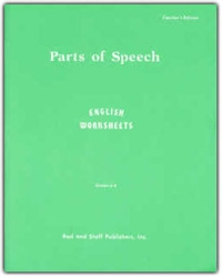 Parts of Speech: English Worksheets Grades 6-8 - Teacher's Manual