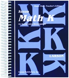 Saxon Math K - Home Study Teacher's Manual