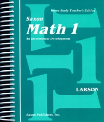 Saxon Math 1 - Home Study Teacher Manual