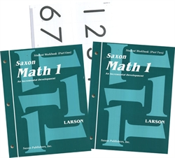 Saxon Math 1 - Student Workbooks and Flashcards
