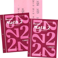 Saxon Math 2 - Student Workbooks and Flashcards