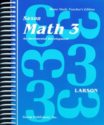 Saxon Math 3 - Home Study Teacher Manual