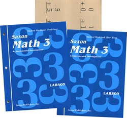 Saxon Math 3 - Student Workbooks and Flashcards