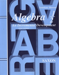 Saxon Algebra 1/2 - Solutions Manual