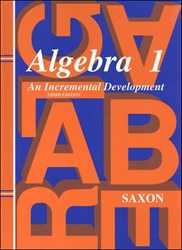 Saxon Algebra 1 - Textbook