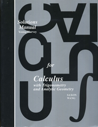 Saxon Calculus - Solutions Manual (old) - Exodus Books