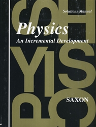 Saxon Physics - Solutions Manual