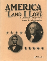 America: Land I Love - Answer Key