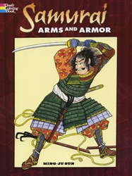 Samurai Arms and Armor - Coloring Book