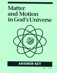 Matter & Motion in God's Universe - CLP Answer Key (old)