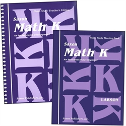 Saxon Math K - Home Study Kit