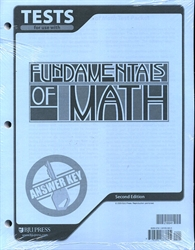 Fundamentals of Math - Tests Answer Key