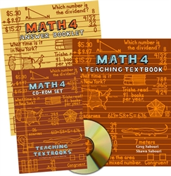 Teaching Textbooks Math 4 - Complete Set