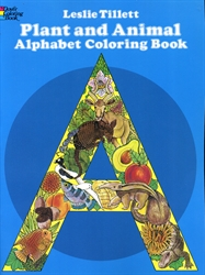 Plant and Animal Alphabet - Coloring Book