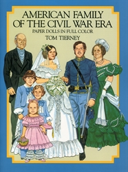 American Family of the Civil War Era - Paper Dolls