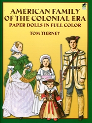 American Family of the Colonial Era - Paper Dolls - Exodus Books