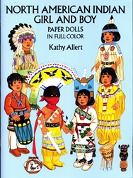 North American Indian Girl and Boy - Paper Dolls