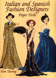 Italian and Spanish Designers - Paper Dolls