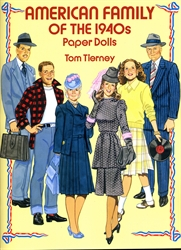 American Family of the 1940s - Paper Dolls