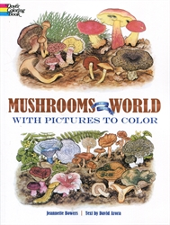 Mushrooms of the World - Coloring Book