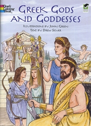 Greek Gods and Goddesses - Coloring Book