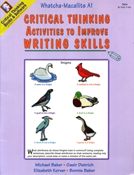 Critical Thinking Activities to Improve Writing Skills - Whatcha-Macallits A1