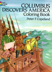 Columbus Discovers America - Coloring Book