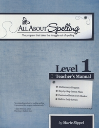 All About Spelling Level 1 - Teacher's Manual