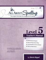 All About Spelling Level 5 - Teacher's Manual