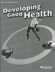 Developing Good Health - Test/Quiz Key