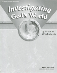 Investigating God's World - Quiz Book