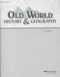 Old World History & Geography - Test Book