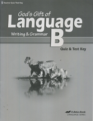God's Gift of Language B - Test Key
