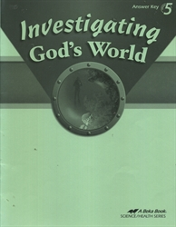 Investigating God's World - Answer Key
