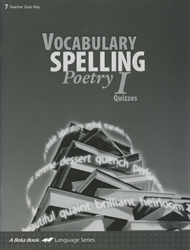 Vocabulary, Spelling, Poetry I - Quiz Key