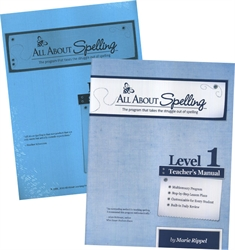 All About Spelling Level 1 - Teacher's Manual & Student Materials Packet