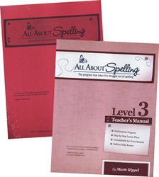 All About Spelling Level 3 - Teacher's Manual & Student Materials Packet