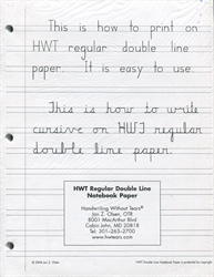 HWT Narrow Double Line Notebook Paper (100 sheets)