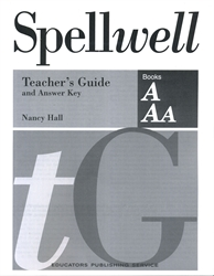 Spellwell A & Aa - Teacher's Guide and Answer Key