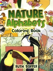 Nature Alphabets - Coloring Book
